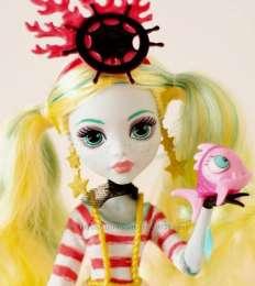 кукла Monster High Лагуна Блю с питомцем Shriek Wrecked title=