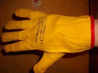 Перчатки кожаные рабочие DRIVER Y