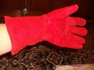 Перчатки краги кожаные сварочные рабочие длинные