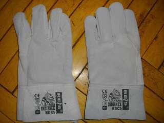 Перчатки краги кожаные сварочные рабочие короткие серые