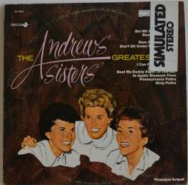 The Andrews Sisters.The Andrews Sisters' Greatest Hits(виниловый диск)