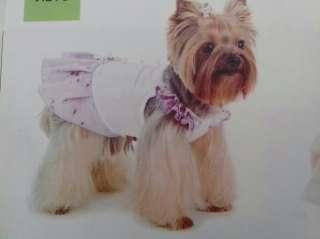 Стильная одежда для животных  платье-сарафан для собак мелких пород title=