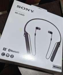 Супер Беспроводная гарнитура NFC Bluetooth наушники Sony WI-C400 новые title=