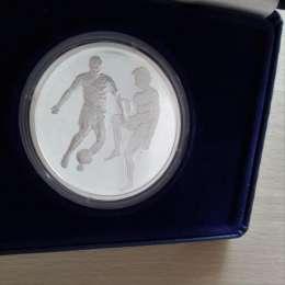 Набор 10 евро 2004 года, Греция. Спорт. Футбол. Серебро. Proof. ЭКСКЛЮ