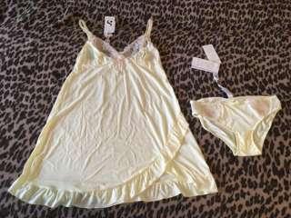 Шикарний комплект: нічна сорочка (ночнушка) і трусики Silenza  title=