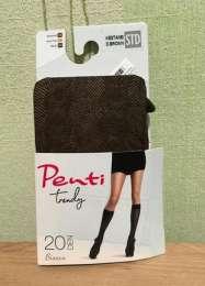 Підколінки penti (коричневі), 20 ден, подколенки, гольфи title=