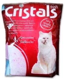 CRISTALS Fresh Силикагелевый наполнитель с ароматом лаванды