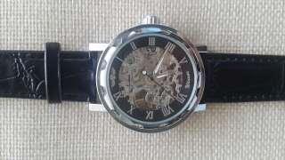 Часы Winner Skeleton Black