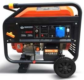 Однофазный бензогенератор генератор Daewoo GDA 8000E title=