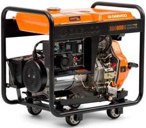 Однофазный генератор бензогенератор Daewoo DDAE 6000XE title=