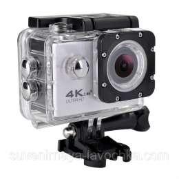 Экшн камера 4K SPORTS Ultra HD DV WiFi (White) + 2 Подарка title=