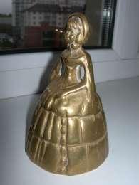 Колокольчик 3, Леди Белл, бронза,12 см, редкое лицо