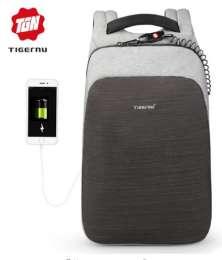 """Рюкзак TIGERNU для ноутбука, USB зарядка 15.6"""" мульти-функциональный"""