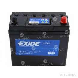 Аккумулятор EXIDE EXCELL 45Ah-12v EB454 234х127х220 | R,EN330 Европа title=