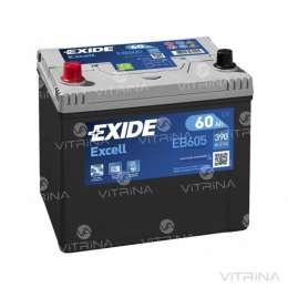 Аккумулятор EXIDE EXCELL 60Ah-12v EB605 230х172х220 | L,EN390 Европа title=