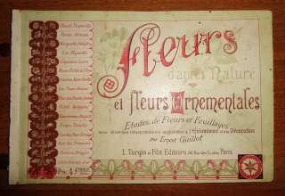 1890 год книга Франция цветы орнамент альбом