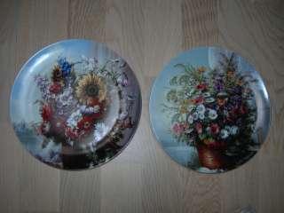 Коллекционные тарелки, Цветы на окне, Розенталь, Германия, пара