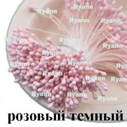 Тычинки матовые за пучек 100 двухсторонних ниток (200 головок)