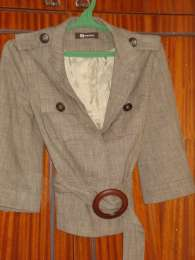 костюм женский Монтон серого цвета, 44р S