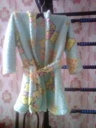 Детский халат с капюшоном (1-3 года) title=