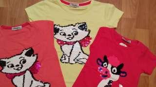 Детские    футболки с  пайетками. title=