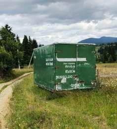Будівельний алюмінієвий вагончик 5х2.3 м. Карпатах в с. Яблуниця title=
