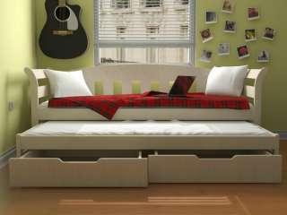 Детская кровать из дерева Тедди Дуо с выдвижным этажом ТМ Луна title=