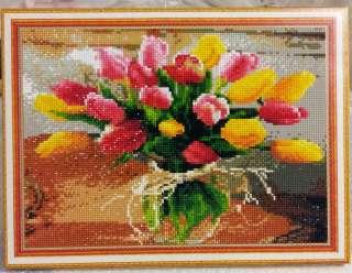 """Алмазная вышивка """"Тюльпаны"""" рисование камнями, алмазная живопись"""