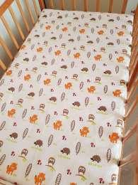 Кроватка-трансформер Geoby Happy Dino с матрасом и балдахином до 7лет