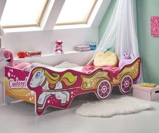 Детская кровать CINDERELLA с матрасом