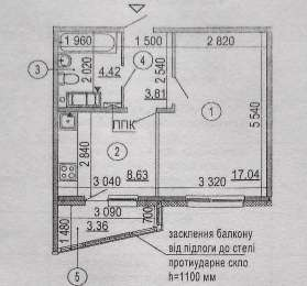 Продаётся 1-комнатная квартира ЖК «Эврика» дом № 19.