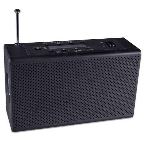 Фонарь Haoyi HY-018 Черный с радио, USB, micro SD с динамо машиной и в