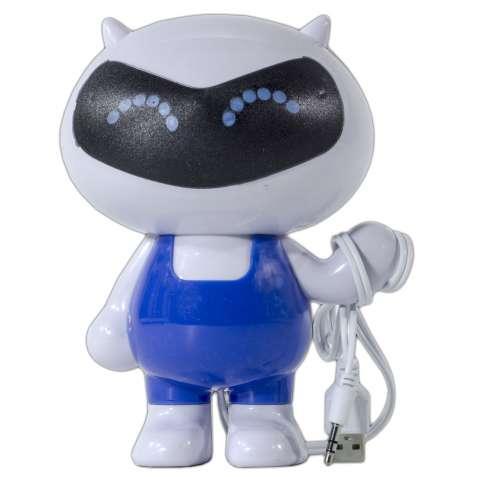 Колонка-робот SMART бело-голубая для компьютера ноутбука музыки универ
