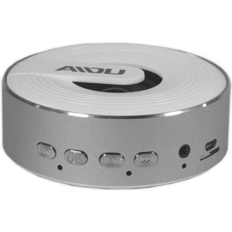 Портативная bluetooth колонка BL AIDU Q1 серебристая с микрофоном бесп