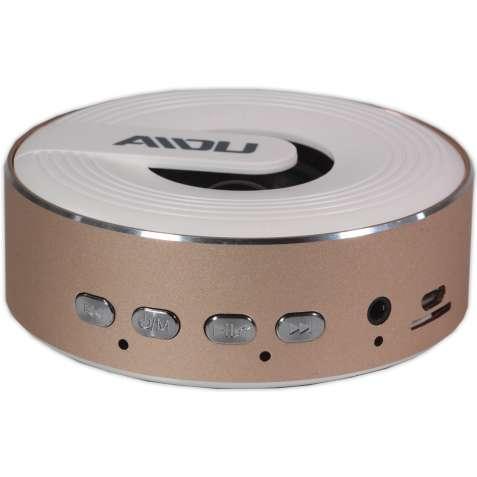Мини колонка BL AIDU Q1 розовое золото с микрофоном bluetooth портатив