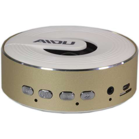 Беспроводная колонка BL AIDU Q1 золотистая с микрофоном bluetooth мини