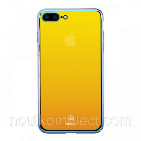 Чехол Baseus Glass Case для iPhone 7 Plus Gold Color (PC-000006)