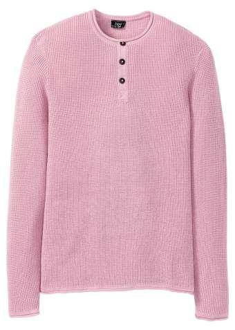 Пуловер с вырезом на пуговицах
