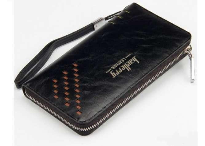 Портмоне Baellerry Leather Model 2 мужской кошелек для дешег, карточек