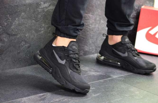 Мужские кроссовки черные Nike Air Max 270 React 7709