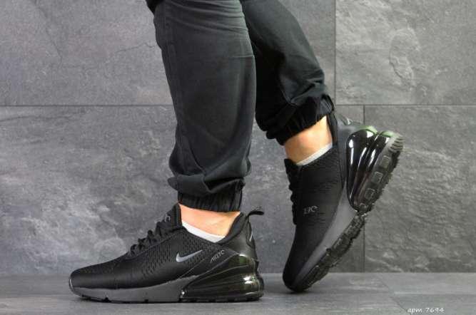 Мужские кроссовки черные Nike Air Max 270 7694