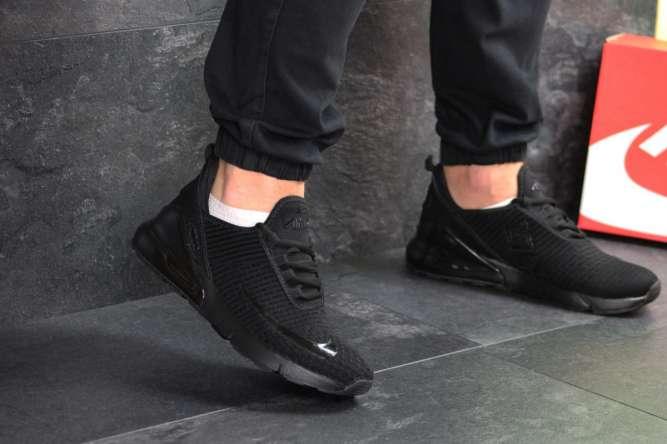 Мужские кроссовки черные Nike Air Max 270 7591