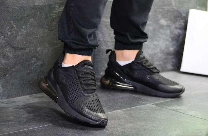 Мужские кроссовки черные Nike Air Max 270 7191