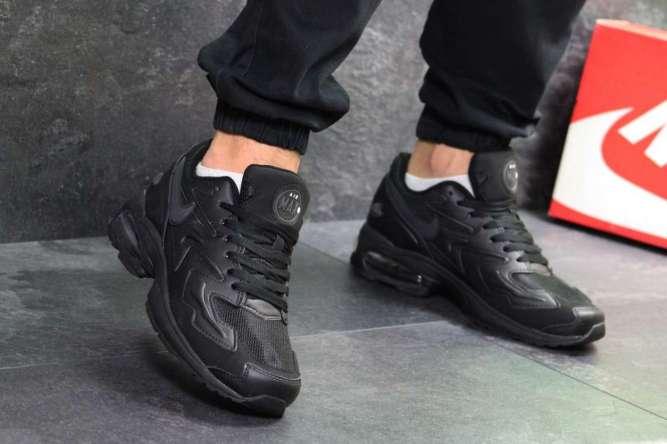 Мужские кроссовки черные Nike Air Max 2 Light 7052