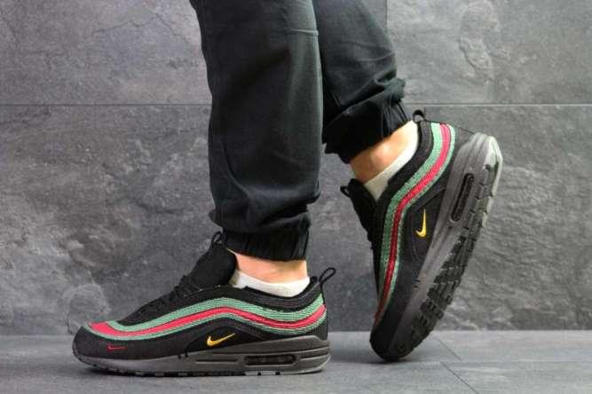 Мужские кроссовки черные Nike Air Max 1/97 Vf Sw 7033