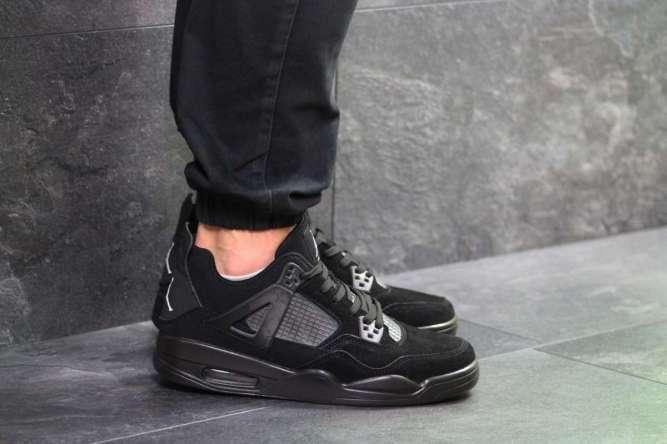 Мужские кроссовки черные Nike Air Jordan Flight 7152