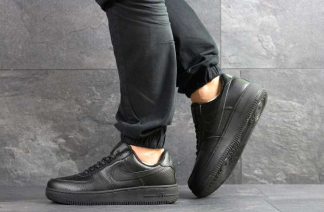 Мужские кроссовки черные Nike Air Force AF 1 7465