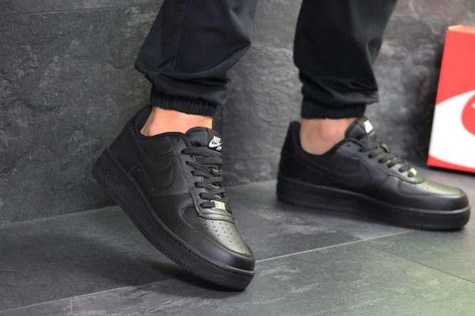 Мужские кроссовки черные Nike Air Force 7306