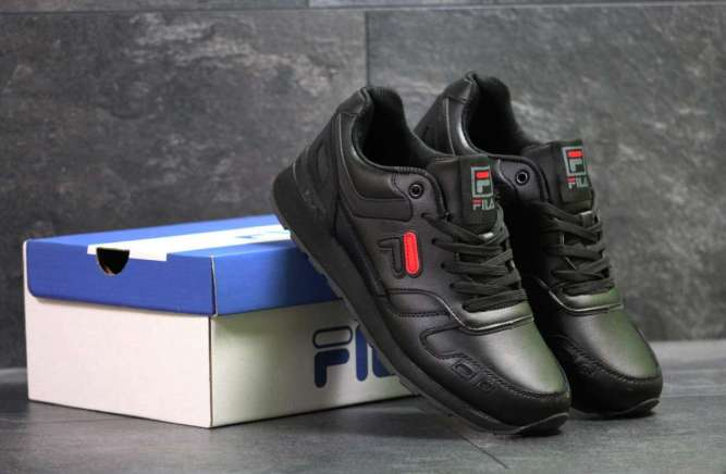 Мужские кроссовки черные Fila 7227