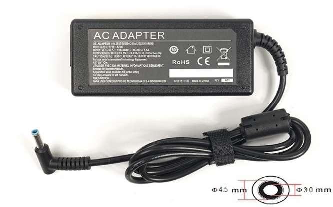 Блок питания для ноутбуков PowerPlant HP 220V, 19.5V 65W 3.33A (4.5*3.